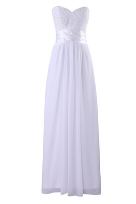 Sleeveless Chiffon Mid Back Natural Waist Sweetheart Wedding Dress