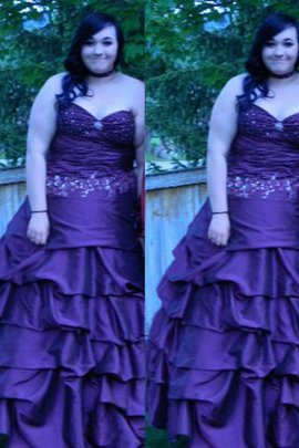 Natural Waist Ball Gown Plus Size Sleeveless Floor Length Prom Dress