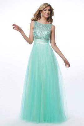Natural Waist Floor Length Beading Bateau Princess Evening Dress