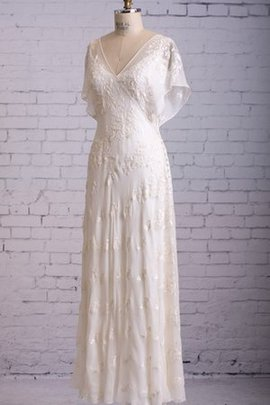 Sheer Back Lace Overlay Misses Rectangle Wedding Dress