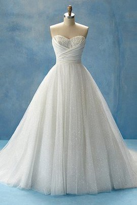 Natural Waist Sweep Train Modest Sweetheart Beach Wedding Dress