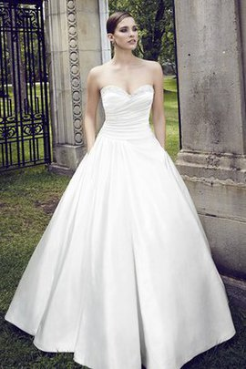 Simple Pleated Bodice Beading Modest Chic & Modern Wedding Dress