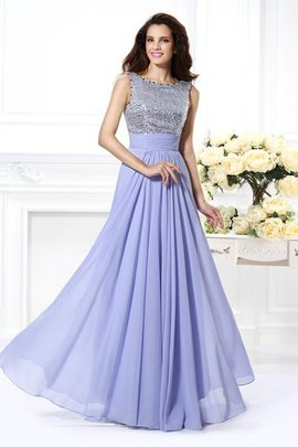 Bateau Natural Waist Long Sleeveless Backless Evening Dress