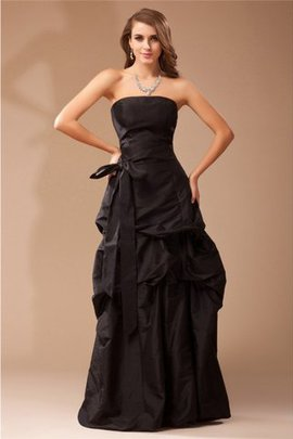 A-Line Sleeveless Long Strapless Evening Dress