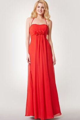 Informal & Casual Backless Flowers Floor Length Simple Bridesmaid Dress