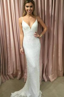 Sexy Romantic Sequined Beading Sleeveless Prom Dress