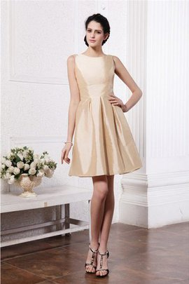 Natural Waist Zipper Up Scoop Sleeveless Draped Bridesmaid Dress