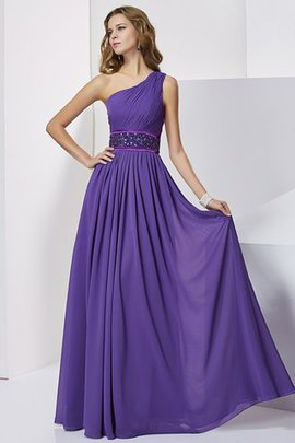 Sleeveless Chiffon Empire Natural Waist Long Prom Dress