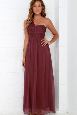 Chiffon One Shoulder Long Ruched Bridesmaid Dress