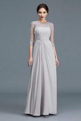 3/4 Length Sleeves Natural Waist Scoop Princess Floor Length Mother Of The Bride Dress