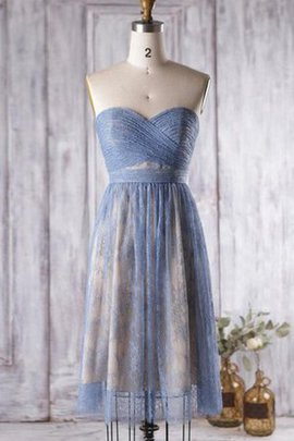 Lace Pleated Informal & Casual Ruched Bridesmaid Dress