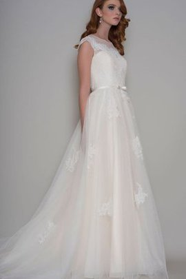 Rectangle Long Appliques Sweep Train Embroidery Wedding Dress