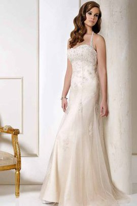 Halter Floor Length Beading Beach Tulle Wedding Dress