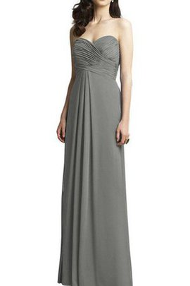 Long Criss-Cross Floor Length Chiffon Ruched Bridesmaid Dress