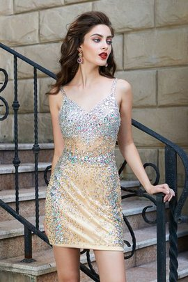 Zipper Up Sequins Sleeveless Sequined Natural Waist Homecoming Dress