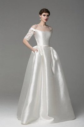 Elegant & Luxurious Romantic Half Sleeves Simple Wedding Dress
