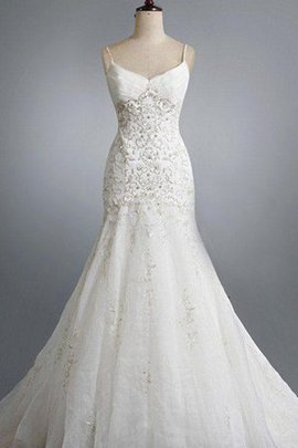 Pompous Church Beading Organza Backless Wedding Dress