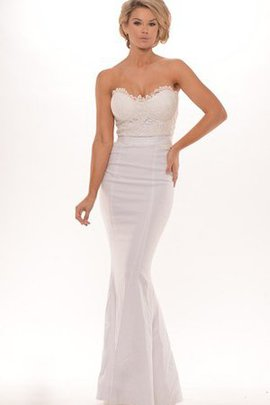 Floor Length Sleeveless Sheath Lace Sweetheart Evening Dress