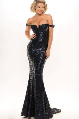 Zipper Up Floor Length Sequins Sequined Sheath Evening Dress