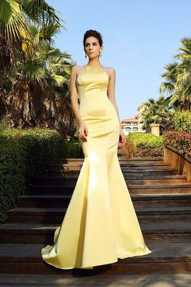 Long Empire Waist Backless Mermaid Satin Evening Dress