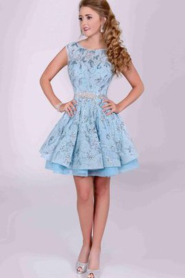 Beading Sequined Lace Chic & Modern Bow Party Dress