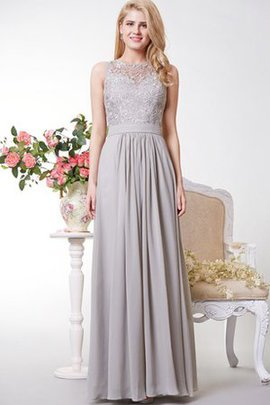 Keyhole Back Floor Length Pleated A-Line Sleeveless Prom Dress
