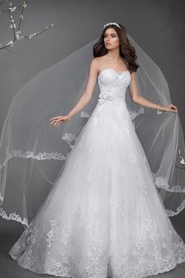 Natural Waist Criss-Cross Floor Length Sweetheart Lace-up Wedding Dress