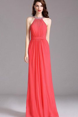 Jewel Empire Waist Beading Chiffon Sleeveless Prom Dress