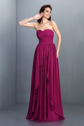 Long Chiffon Floor Length Pleated Zipper Up Prom Dress