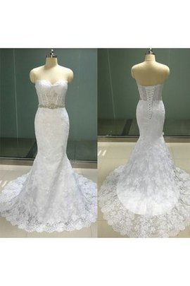Lace Informal & Casual Court Train Sweetheart Floor Length Wedding Dress