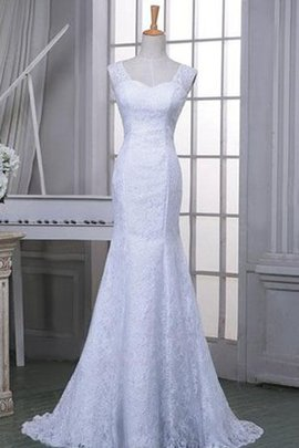 One Shoulder Sleeveless Mermaid Lace Fabric Natural Waist Wedding Dress