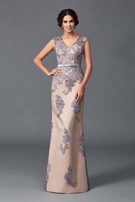 Wide Straps Floor Length Sheath Sleeveless Evening Dress