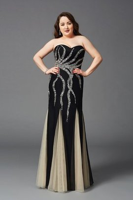Sheath Plus Size Sweetheart Beading Natural Waist Prom Dress
