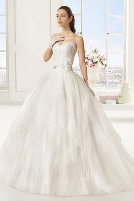 Misses Sexy Lace Fabric Ball Gown Sleeveless Wedding Dress