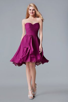 Simple Strapless Ruffles A-Line Sleeveless Homecoming Dress
