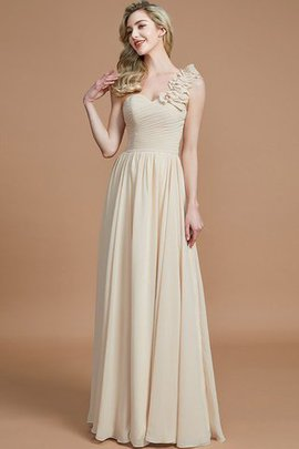 Sleeveless Natural Waist One Shoulder A-Line Chiffon Bridesmaid Dress