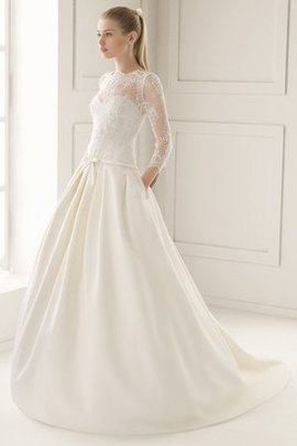 High Neck Court Train Elegant & Luxurious Wedding Dress