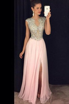 Sequined Princess Bateau Sequins Natural Waist Evening Dress