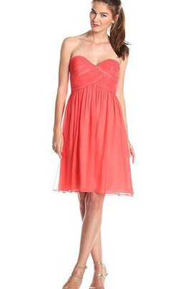 Short Ruffles Square Ruched Zipper Up Bridesmaid Dress