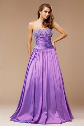 Princess Taffeta Sleeveless Strapless Floor Length Prom Dress