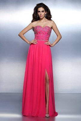 Sweetheart A-Line Natural Waist Long Prom Dress