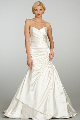 Satin Ruched Sleeveless Asymmetrical Natural Waist Wedding Dress