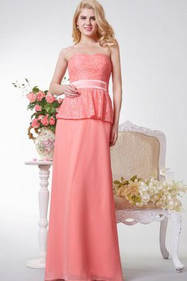 Lace Fabric A-Line Floor Length Elegant & Luxurious Sashes Bridesmaid Dress