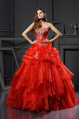 Sleeveless Ball Gown Floor Length Beading Long Quinceanera Dress