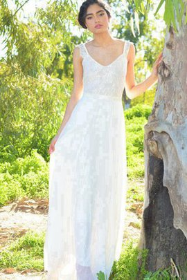 Simple V-Neck A-Line Sashes Informal & Casual Wedding Dress