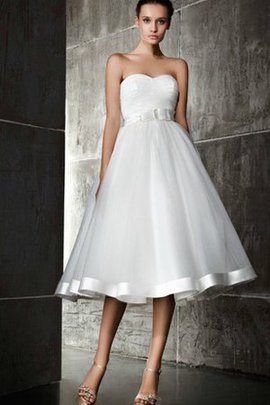 Sweetheart A-Line Satin Sashes Simple Wedding Dress