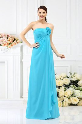 Sleeveless A-Line Zipper Up Floor Length Bridesmaid Dress