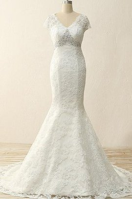 Mermaid Beading Sweep Train Long Satin Wedding Dress