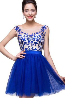 Deep V-Neck Sleeveless Bateau A-Line Homecoming Dress