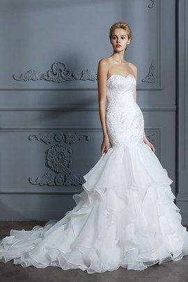 Ruffles Zipper Up Adorable Multi Layer Demure Organza Simple Wedding Dress